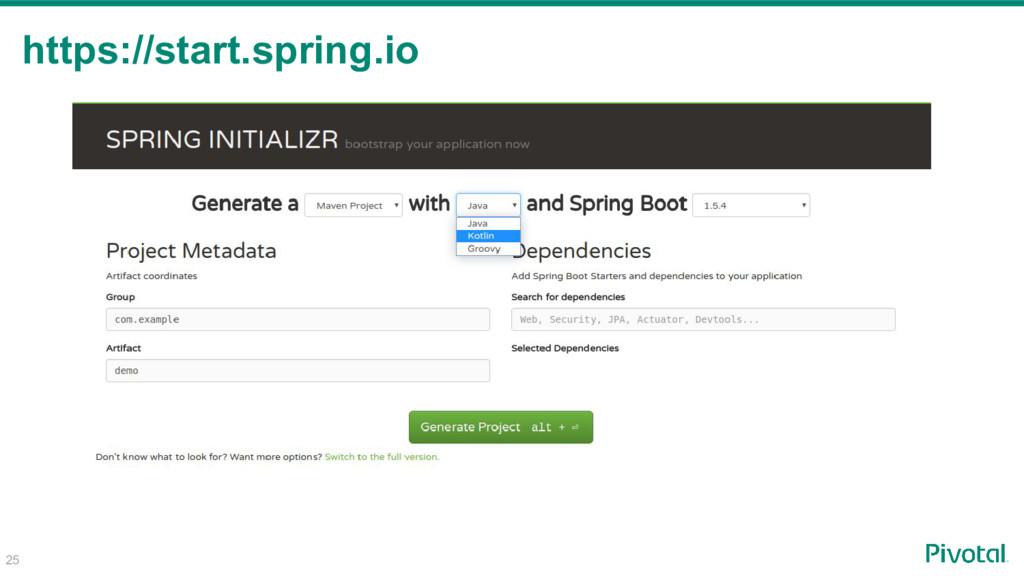 25 https://start.spring.io