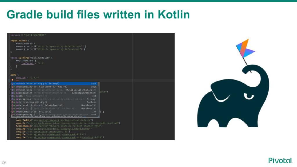 Gradle build files written in Kotlin 29