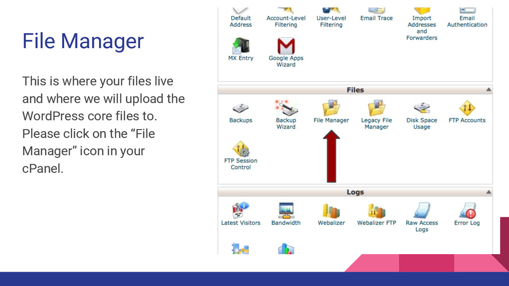 File Manager This is where your files live and ...