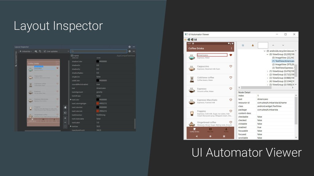 Layout Inspector UI Automator Viewer