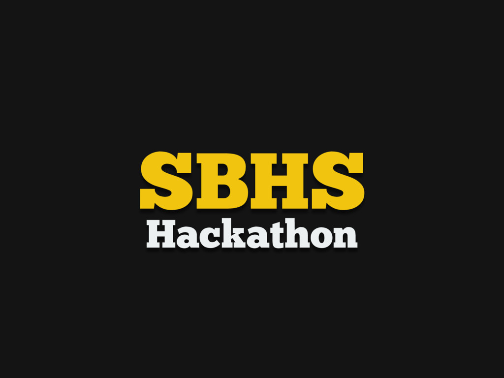 Hackathon SBHS