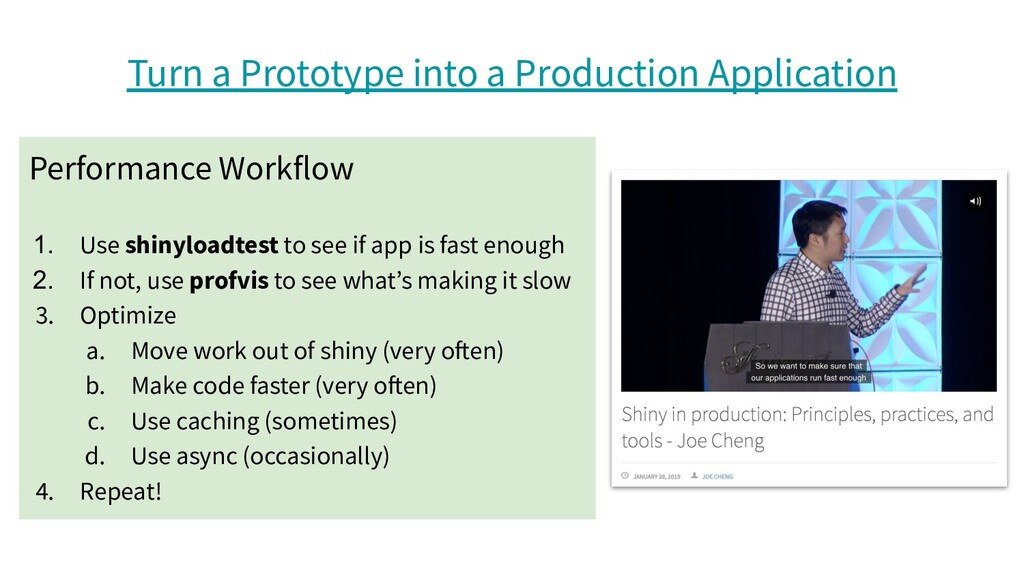 Turn a Prototype into a Production Application ...