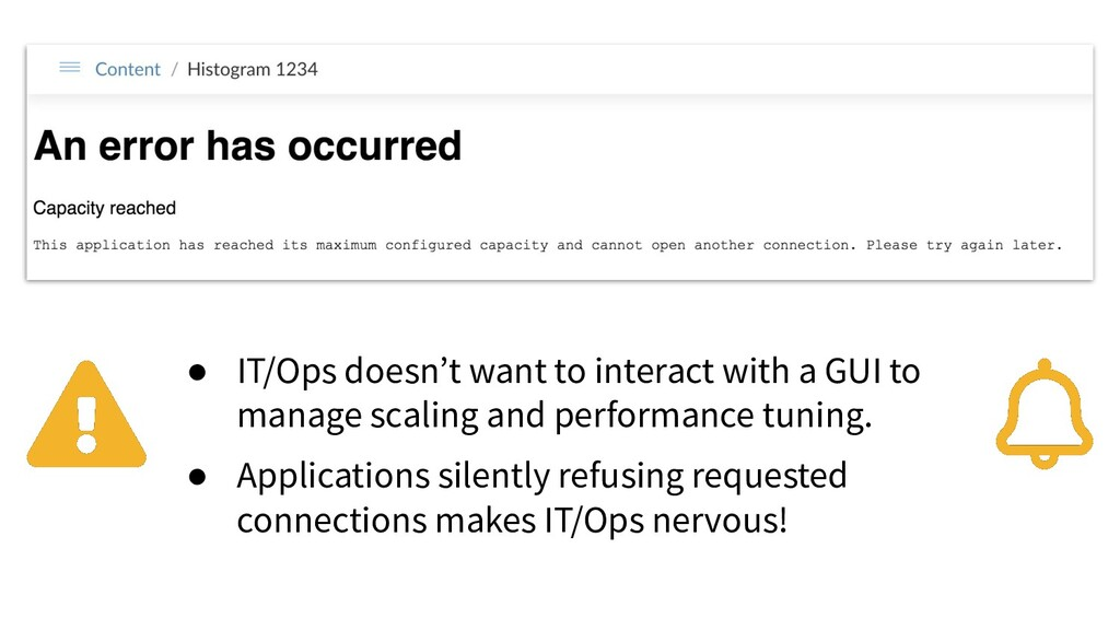 ● IT/Ops doesn't want to interact with a GUI to...