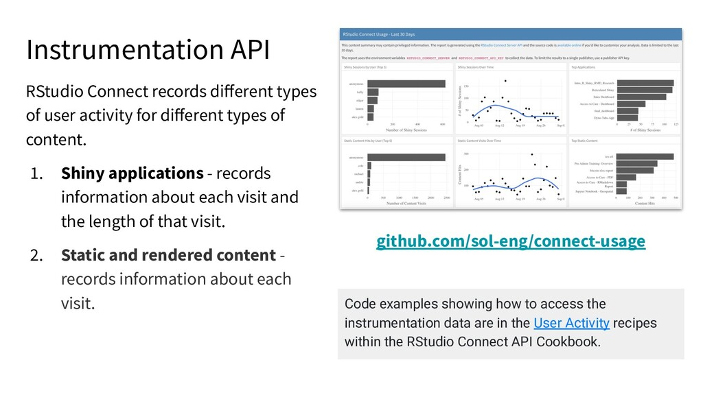 Instrumentation API RStudio Connect records diff...
