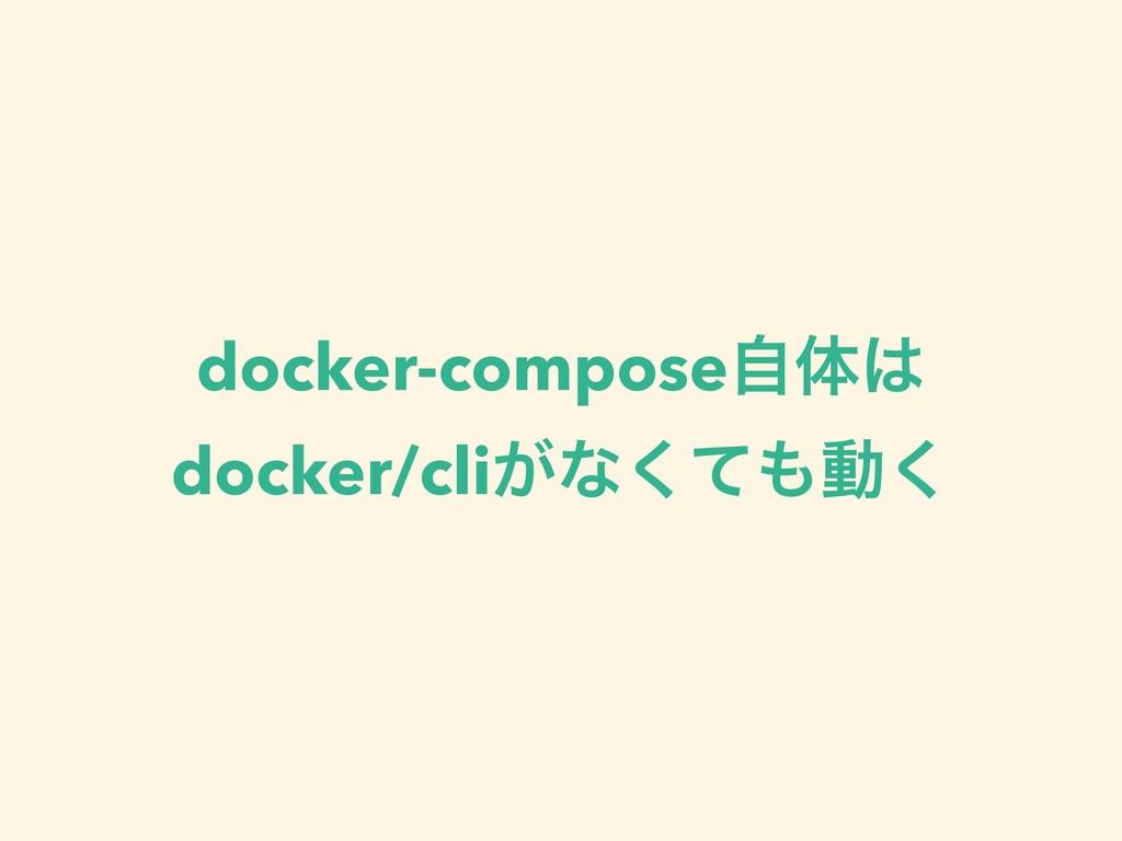docker-composeࣗମ docker/cli͕ͳͯ͘ಈ͘