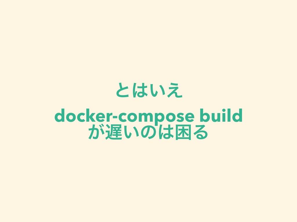 ͱ͍͑ docker-compose build ͕͍ͷࠔΔ