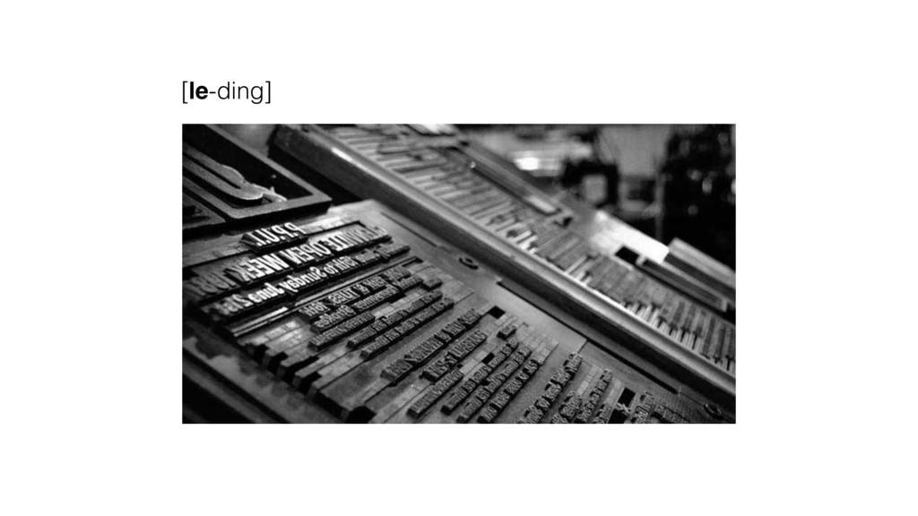 [le-ding]