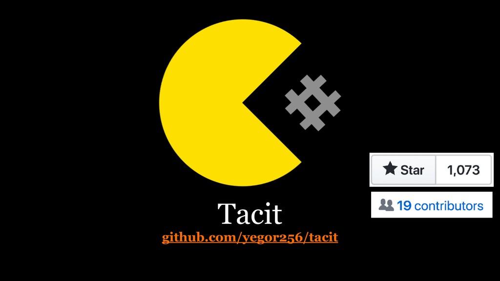 Tacit github.com/yegor256/tacit