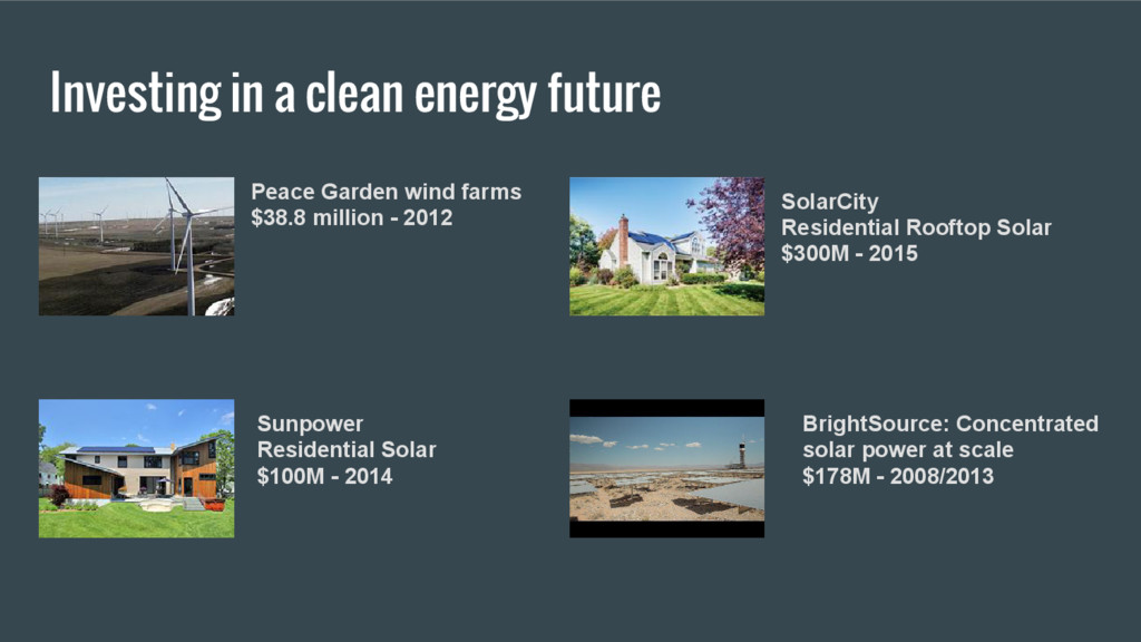 Investing in a clean energy future Peace Garden...