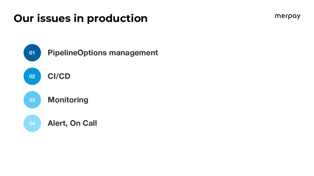 Our issues in production PipelineOptions manage...