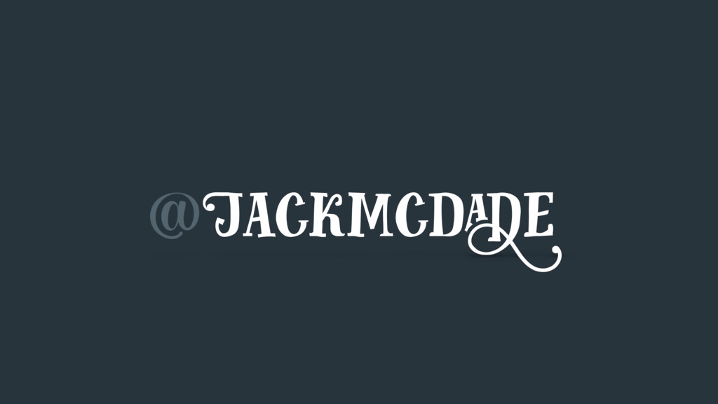 @Jackmcdade