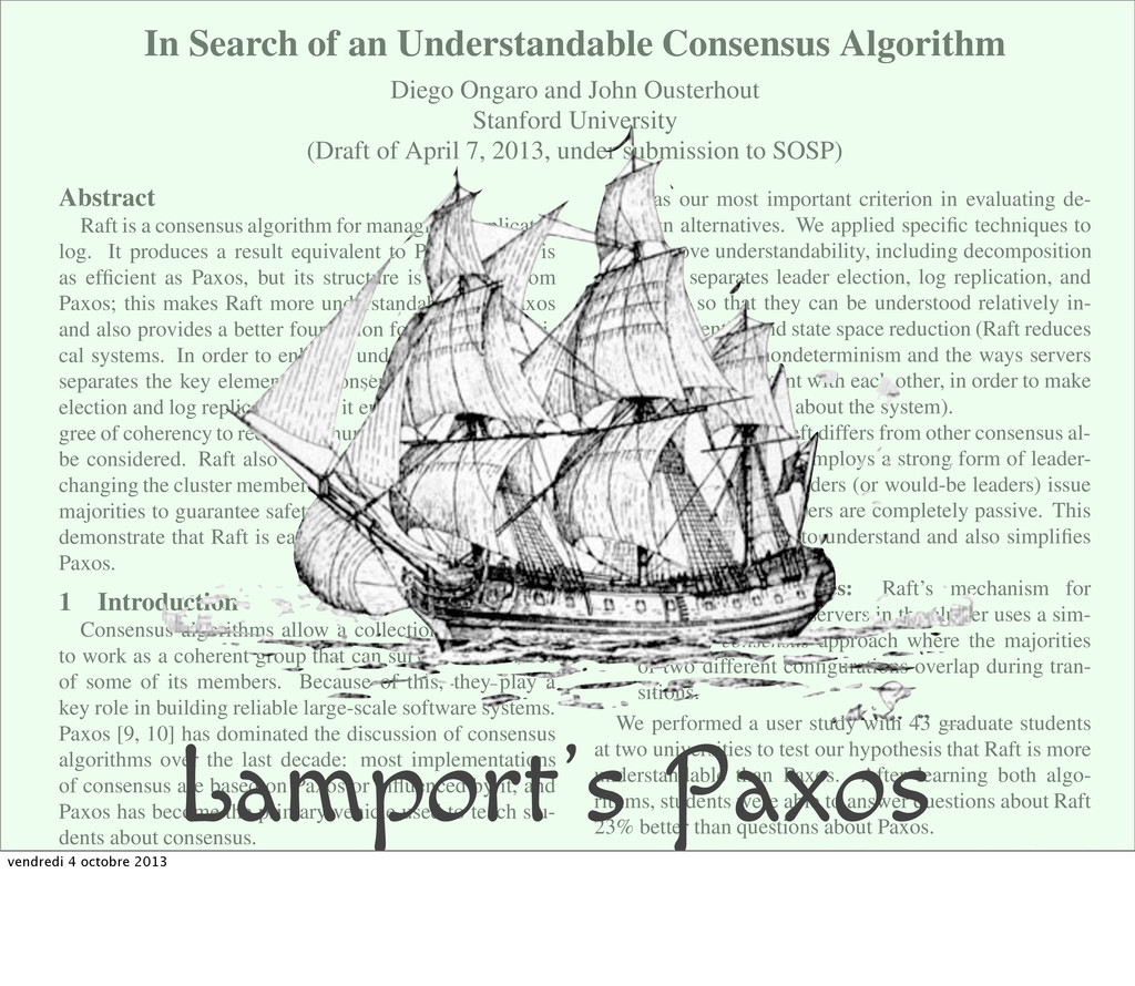 In Search of an Understandable Consensus Algori...