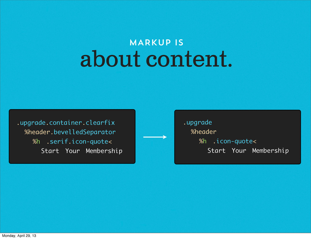 about content. MARKUP IS .upgrade.container.cle...