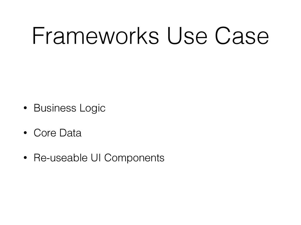 Frameworks Use Case • Business Logic • Core Dat...