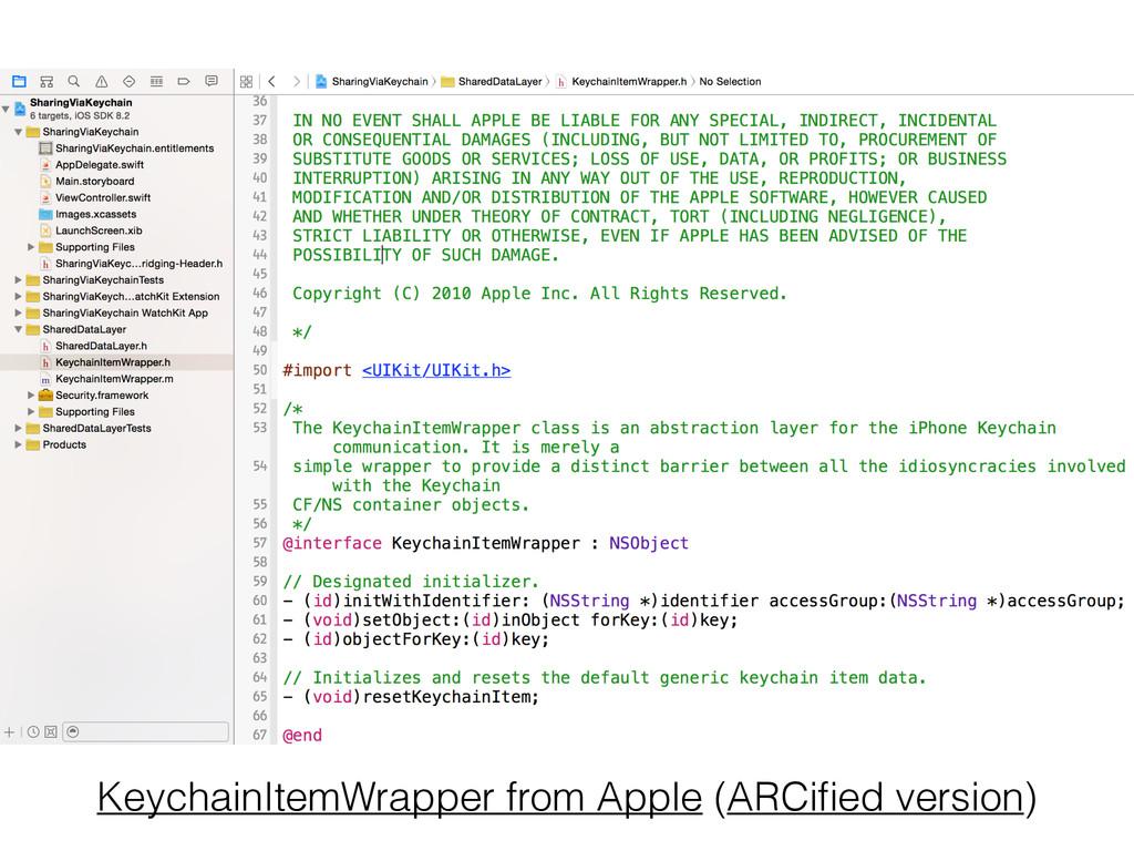 KeychainItemWrapper from Apple (ARCified version)