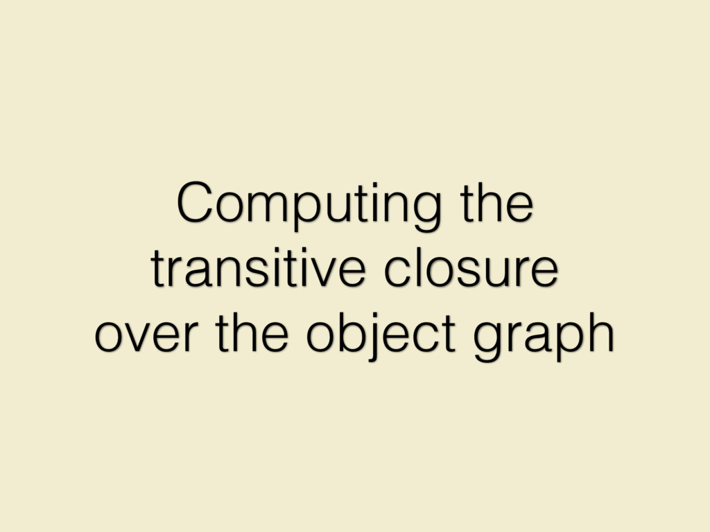 Computing the transitive closure over the objec...