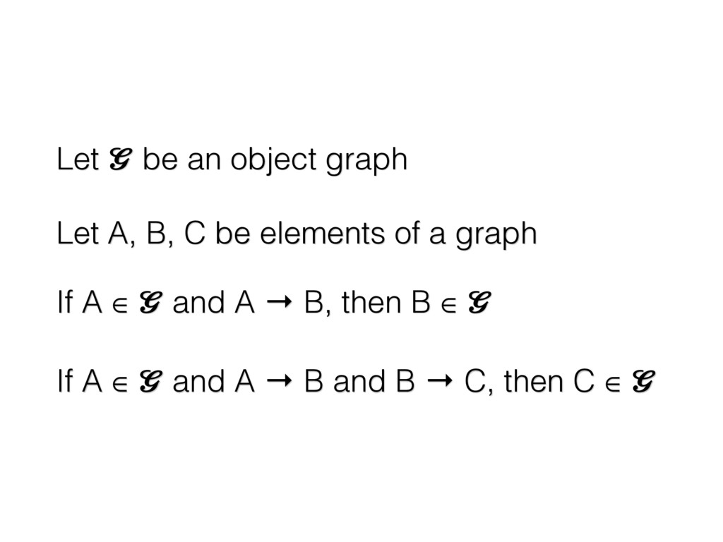 Let  be an object graph Let A, B, C be elements...
