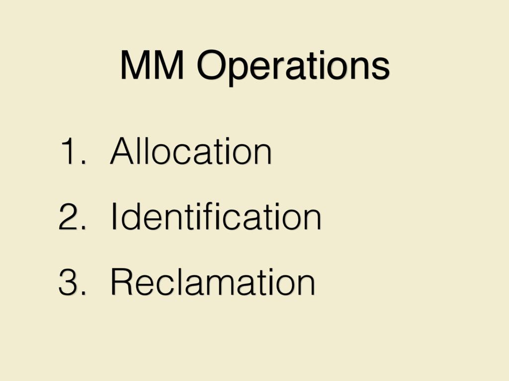 1. Allocation 2. Identification 3. Reclamation M...