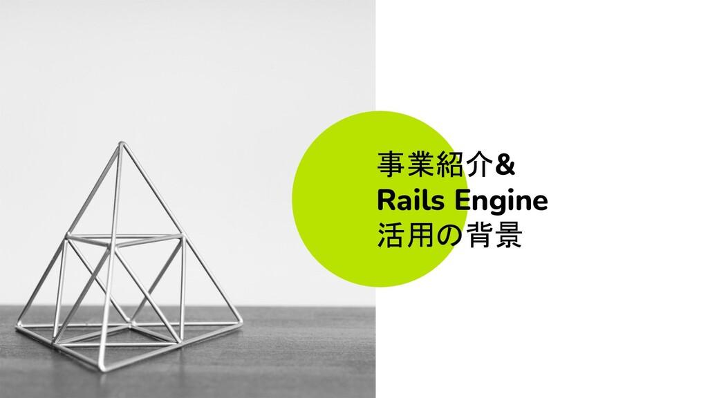 事業紹介& Rails Engine 活用の背景