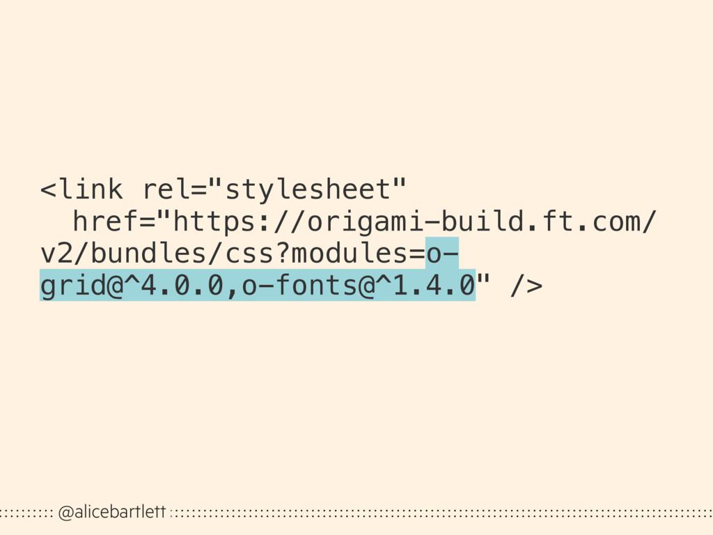 """@alicebartlett <link rel=""""stylesheet"""" href=""""htt..."""