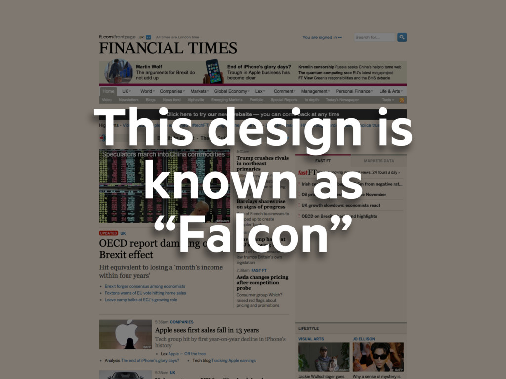 """This design is known as """"Falcon"""""""