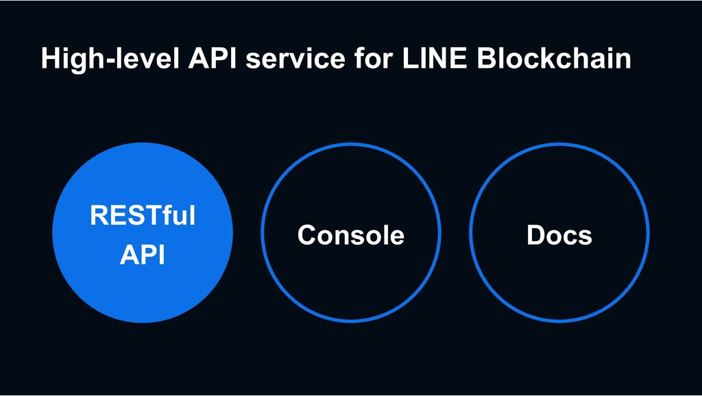 High-level API service for LINE Blockchain Cons...