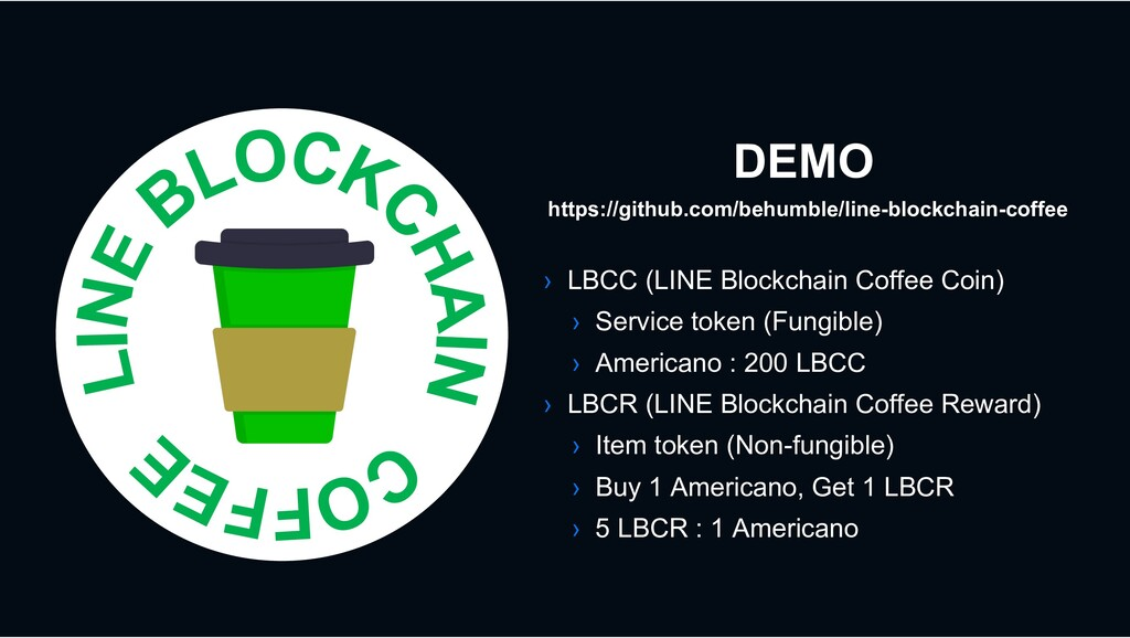 DEMO › LBCC (LINE Blockchain Coffee Coin) › Ser...