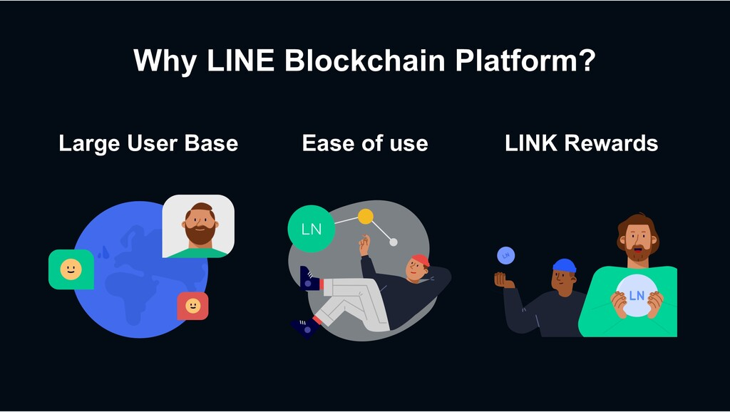 Why LINE Blockchain Platform? Large User Base E...