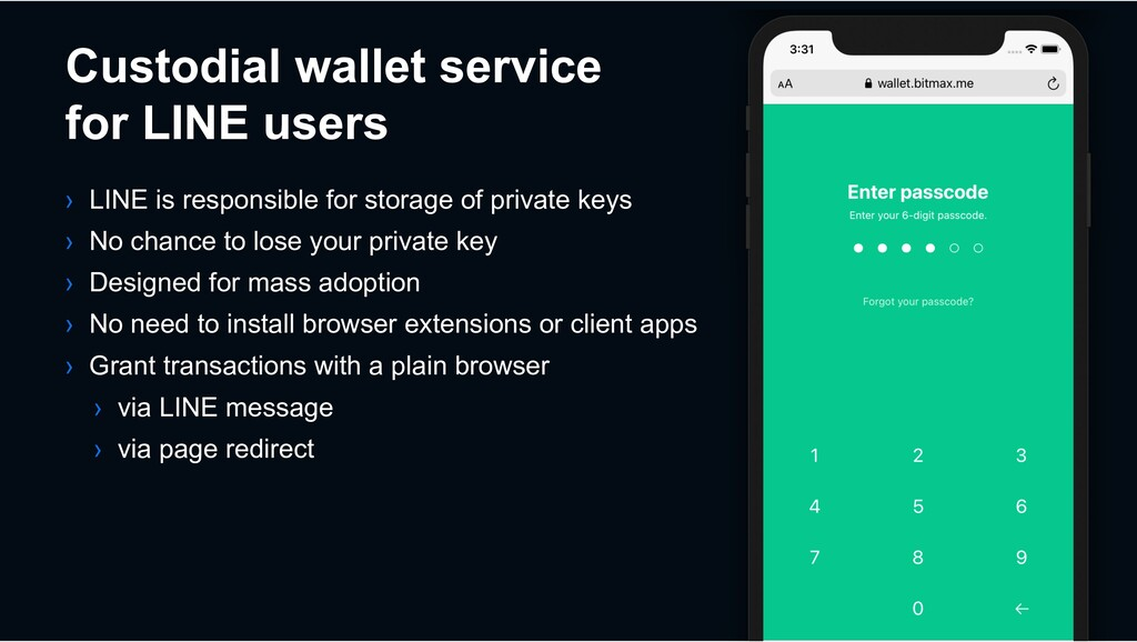 Custodial wallet service for LINE users › LINE ...