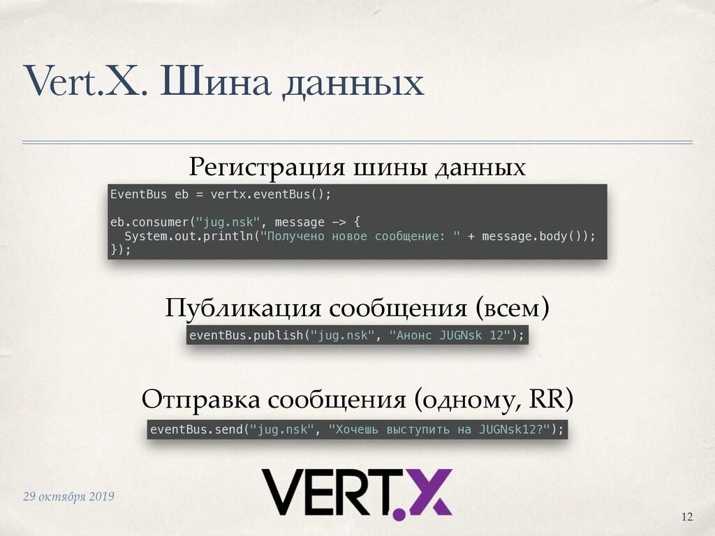 29 октября 2019 Vert.X. Шина данных +12 EventBu...