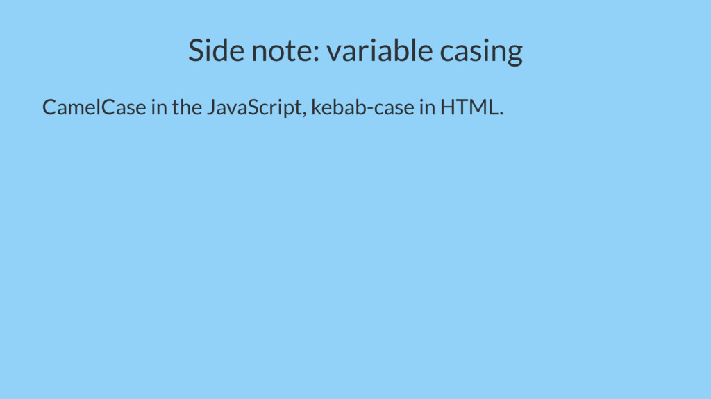 Side note: variable casing CamelCase in the Jav...