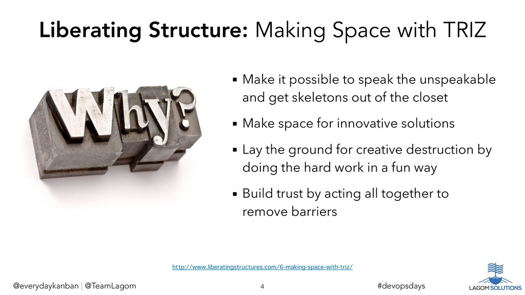 Liberating Structure: Making Space with TRIZ ▪ ...