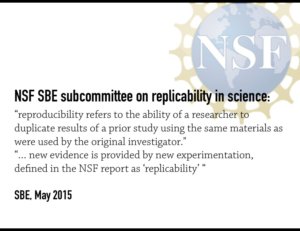 NSF SBE subcommittee on replicability in scienc...