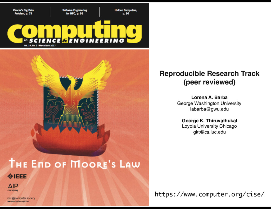 Reproducible Research Track (peer reviewed) Lor...