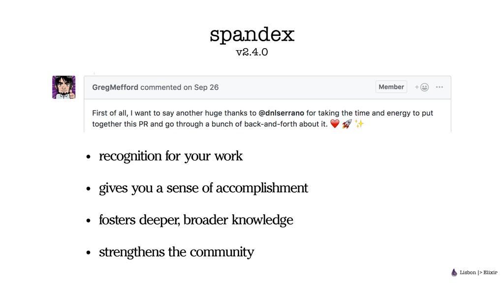 spandex v2.4.0 • recognition for your work • gi...