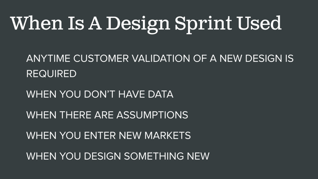 ANYTIME CUSTOMER VALIDATION OF A NEW DESIGN IS ...