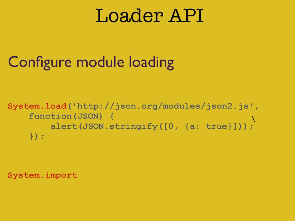 \ Loader API System.load('http://json.org/modul...