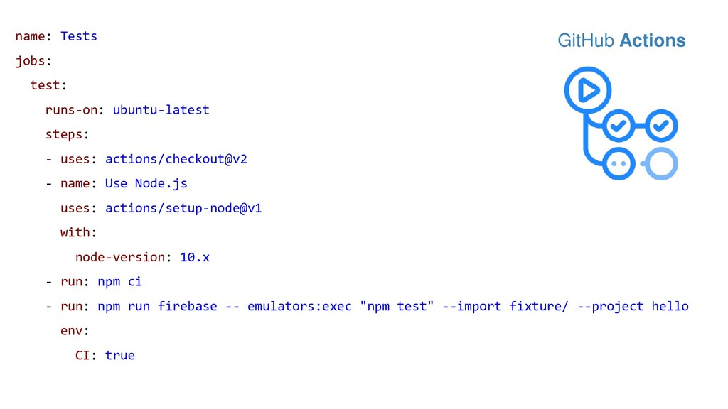 name: Tests jobs: test: runs-on: ubuntu-latest ...