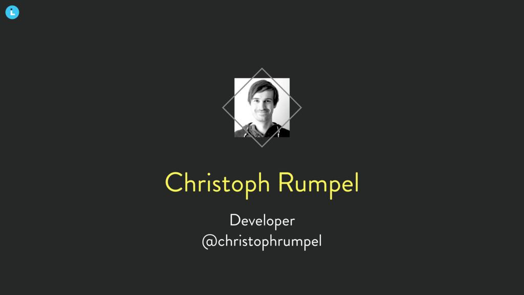 Christoph Rumpel Developer @christophrumpel