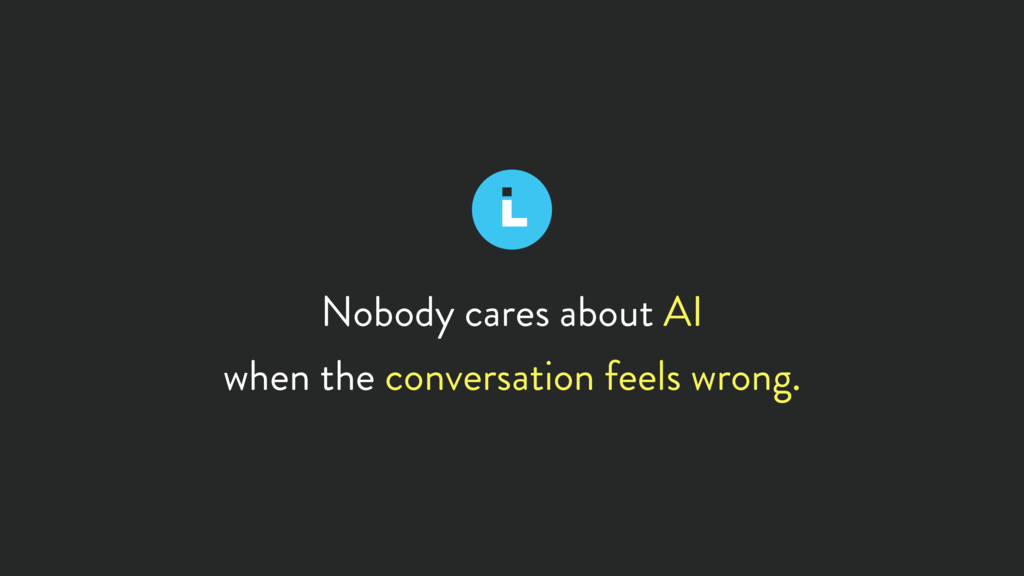 Nobody cares about AI when the conversation fee...