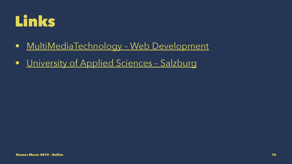 Links • MultiMediaTechnology – Web Development ...