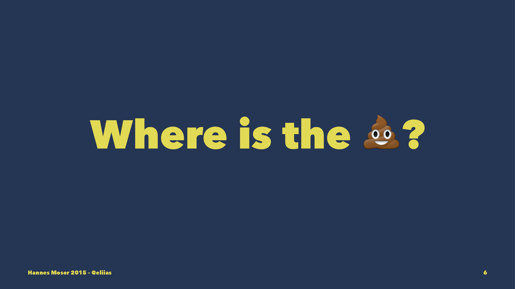 Where is the !? Hannes Moser 2015 – @eliias 6