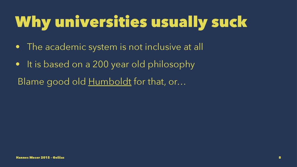 Why universities usually suck • The academic sy...