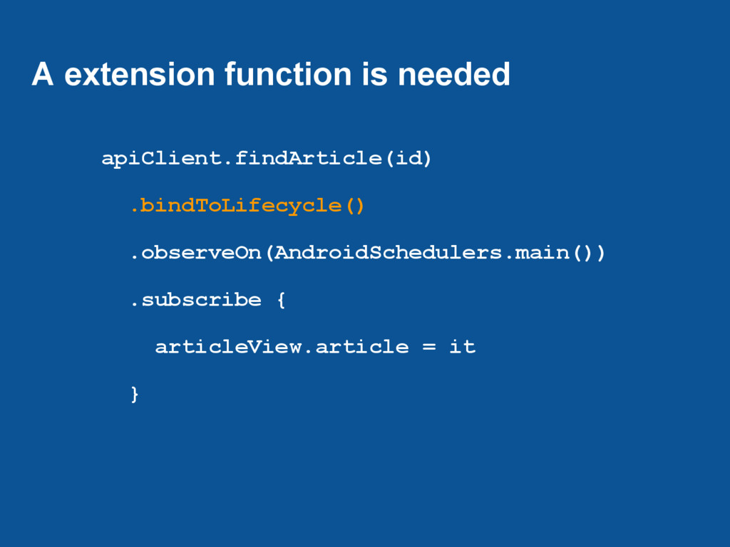 A extension function is needed apiClient.findAr...
