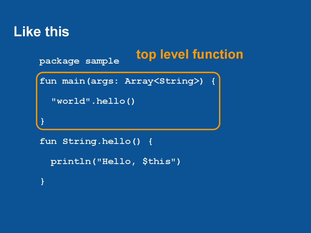 Like this package sample fun main(args: Array<S...
