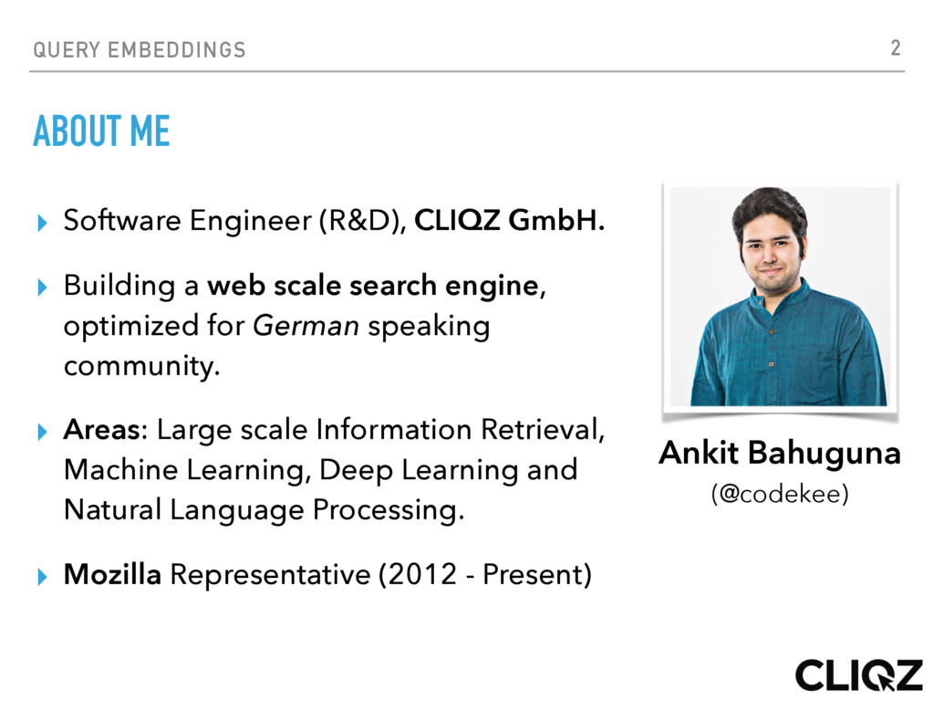 QUERY EMBEDDINGS ABOUT ME ▸ Software Engineer (...