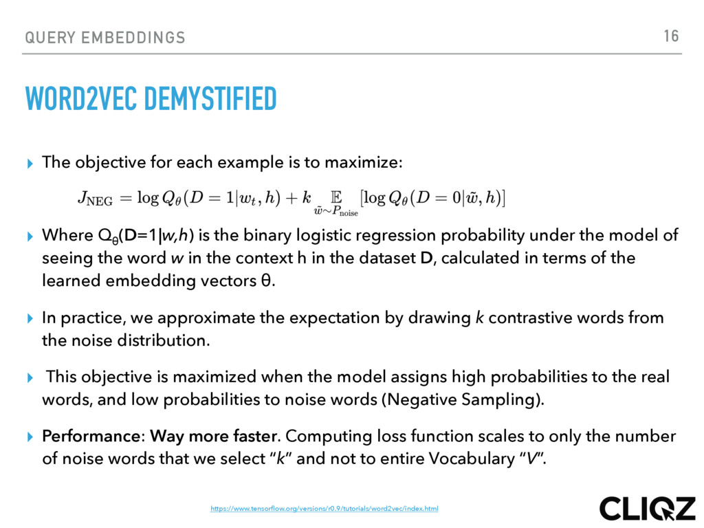 QUERY EMBEDDINGS WORD2VEC DEMYSTIFIED ▸ The obj...