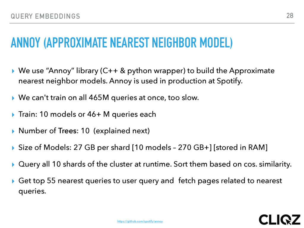 QUERY EMBEDDINGS ANNOY (APPROXIMATE NEAREST NEI...