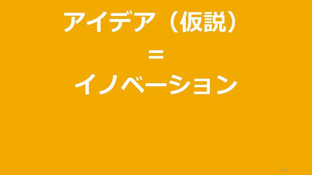 145 アイデア(仮説) = イノベーション = 新結合
