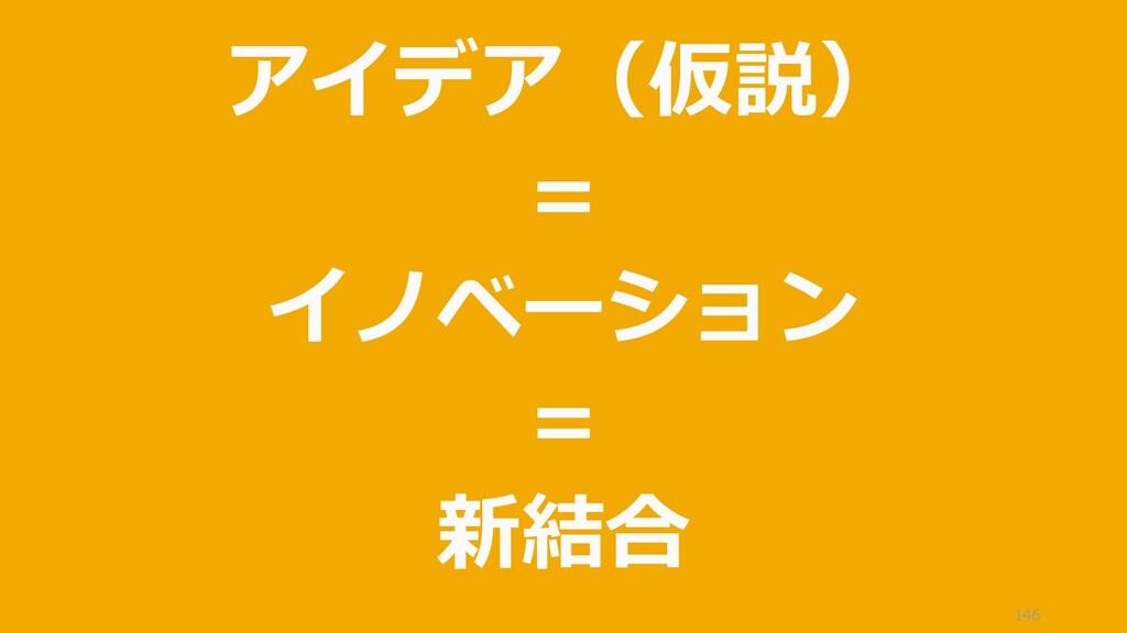 146 アイデア(仮説) = イノベーション = 新結合